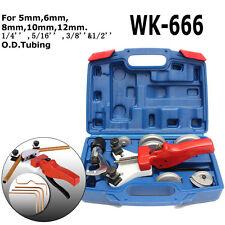 WK-666 Multi Copper Pipe Bender Tube bending Tool Kit with Tube Cutter Aluminum