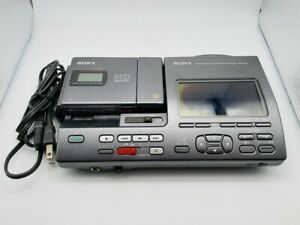 MD1356 Excellent  SONY PORTABLE MINIDISC RECORDING SYSTEM MZS-R4ST  Black