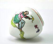 Vintage Chinese Porcelain Handmade Hand painted Birdfeeder Bird feeder Boy rest