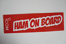 ICOM HAM ON BOARD (STICKER ONLY)........................RADIO_TRADER_IRELAND.