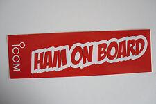 ICOM HAM ON BOARD (STICKER ONLY)........................RADIO_TRADER_IRELAND.