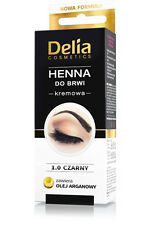 Delia HENNA TINT Eyebrow cream BLACK Contains argan oil for 15Applications