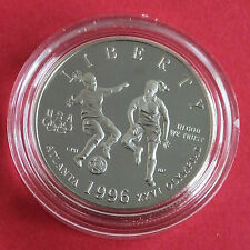 USA 1996 S ATLANTA OLYMPICS SOCCER PROOF HALF DOLLAR