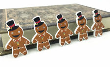 25pcs Gingerbread man Christmas buttons Wooden sewing decoration Christmas 35mm