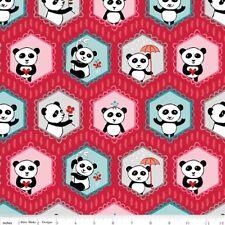 Panda Love Main Red by Riley Blake 112 x 25cm