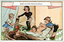 Postcard Bath Hermann Born Humor Cartoon (No. 685) - I