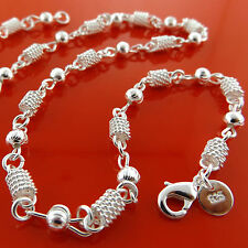 FSA943 GENUINE REAL 925 STERLING SILVER S/F LADIES ANTIQUE DESIGN NECKLACE CHAIN