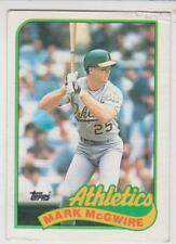 Topps 1989 Baseball #70 Mark McGwire Oakland Athletics
