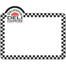 "Hubert® Vinyl Heat Resistant Write On Tag With Deli Favorites Imprint - 3 7/18""H"