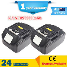 2 Battery pack for Makita 18V BL1830,BL1835 BTD146Z BHP458Z BHP459Z BHP456 ML185