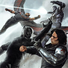 CAPTAIN AMERICA Civil War SIGNED ART PRINT Black Panther WAR MACHINE Falcon NEW