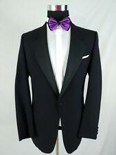 Mani Giorgio Armani Black Tuxedo Blazer Jacket Wool 1 Button Formal Dinner 38L