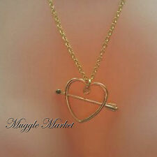 Gold Ron Weasley sweetheart necklace wizard magical Hermione Harry 32 inches
