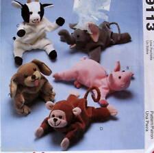 Bean Bag animals pattern COW ELEPHANT pig Monkey dog