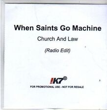 (BR888) When Saints Go Machine, Church And Law - DJ CD