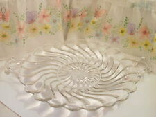 12 In Clear Slick Swirl Design Plate With Handles (Excellent Fruits Or Salads)