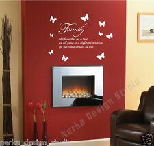 WALL STICKER / Family like branches on a tree wall sticker  Wall Quote  N99