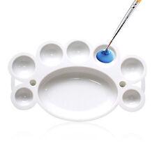 Nail Art DIY Plastic Dappen Dish Paint Color Mixing Tool Watercolor Palette set
