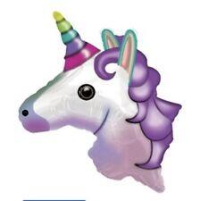 "24"" Emoji Emoticon Unicorn Balloon Mylar Foil  Party Decorations"