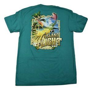 Well Worn Mens Island Flight Turquoise Shirt New M, L, XL, 2XL