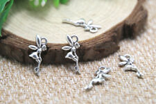 60pcs tiny fairy Charms silver tone tiny fairy fairy tale charm pendants 18x8mm