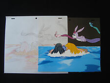 Lady Lovely Locks Original Animation Production Cel with drawing DiC D