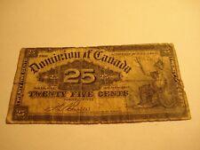 1900 - Canada 25 cent bill - circulated - Canadian Shinplaster