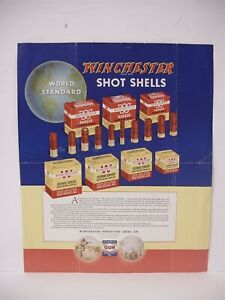 VINTAGE Original Winchester Shot Gun Shells Cartridges Brochure Poster