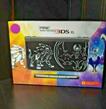 Nintendo New 3DS XL Pokemon Solgaleo Lunala Black Special Edition