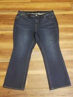 Talbots Flawless Five 5 Pocket Woman Petites Bootcut Jeans Dark Wash Size 20P