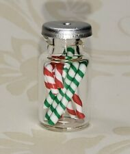 Miniature Dollhouse Jar of Candy Canes 1:12 Scale New