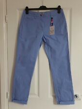 CREW CLOTHING PASTEL SOFT LILAC BLUE STRETCHY COTTON SMART WALKER CHINO TROUSERS