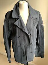 Mens Classic Scotch & Soda Navy Wax Trench Coat Jacket Size Medium