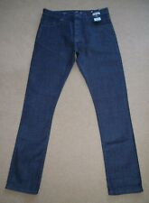 "BNWT TOPMAN Stretch Slim Black Denim Jeans Waist UK 32R"" Inside Leg 32"""