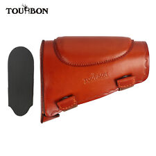 Tourbon Cowhide Leather Cheek Rest Gun Buttstock Holder with Recoil Pad Shooting