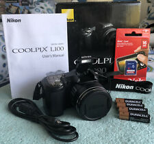 Nikon COOLPIX L100 10.0MP Digital Camera - Black~~Excellent~~Bundle~~16GB SD~~