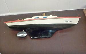 "Vintage Seifert Boat Model Sailboat Pond Yacht Germany 15"" SEAHORSE 11"