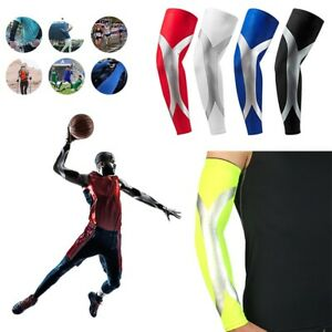 Cooling Arm Sleeves Cover UV Sun Protection Basketball Cycling Bike Sport 1Pair