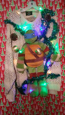 """TMNT MUTANT TURTLES """" UGLY """" Tacky Christmas sweater X-LARGE L@@K LIGHTS MENS"""