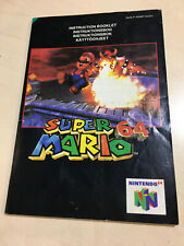 SUPER MARIO 64 for the N64 MANUAL ONLY NO GAME