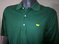 Nice Mens Masters Collection Augusta National Logo S/S Polo Golf Shirt M Green