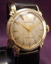 "Serviced~Art Deco 1952 Bulova ""THAYER"" 17J Swiss Automatic~10KGF Watch"