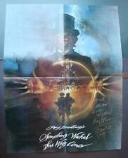 Sci-Fi Author Ray Bradbury Hand Signed autographed 1982 Walt Disney film poster*