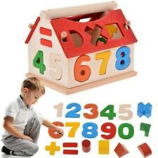 Baby Kids Educational Toy Puzzle Wooden House Building Development Blocks Gift