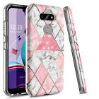 For LG K31 Rebel Phone Case Shockproof Clear Bling Slim TPU Armor Bumper Cover