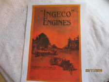 "1915 ""Ingeco"" International Gas Engine Catalog All sizes, hit miss, mags, pumps"