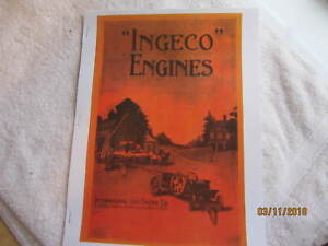 """1915 """"Ingeco"""" International Gas Engine Catalog All sizes, hit miss, mags, pumps"""