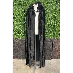 Rubies One Size Black Hooded Velvet Cape Costume