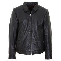 Superdry Men's Indie Coach Leather Jacket PN: M5010409A