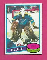 1980-81 OPC # 31 BLUES MIKE LIUT GOALIE ROOKIE EX-MT CARD (INV# D0605)